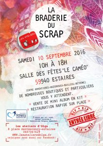 affiche braderie grégory lemarchal